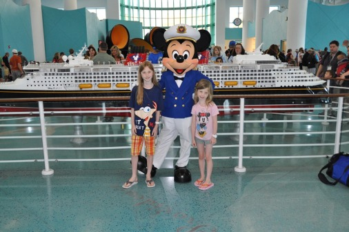 Mickey at Disney Cruise Terminal